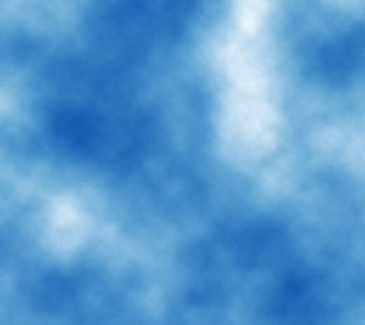 Заготовка неба голубого цвета